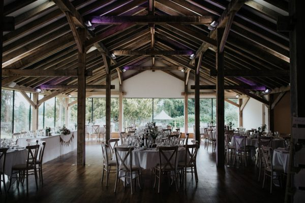 Outdoor Wedding Venues West Midlands_Bredenbury Court Barns_Becky&Andrew Oak Barn Wedding Breakfast